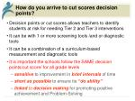 how do you arrive to cut scores decision points