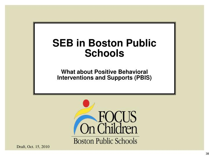 SEB in Boston Public Schools