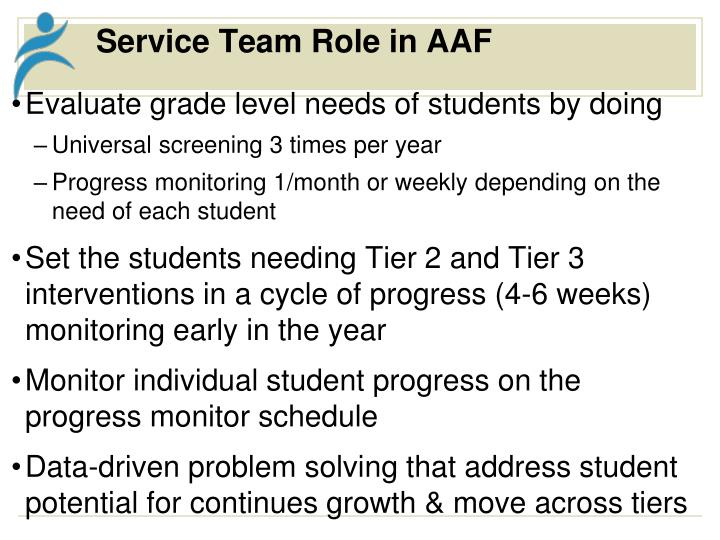 Service Team Role in AAF