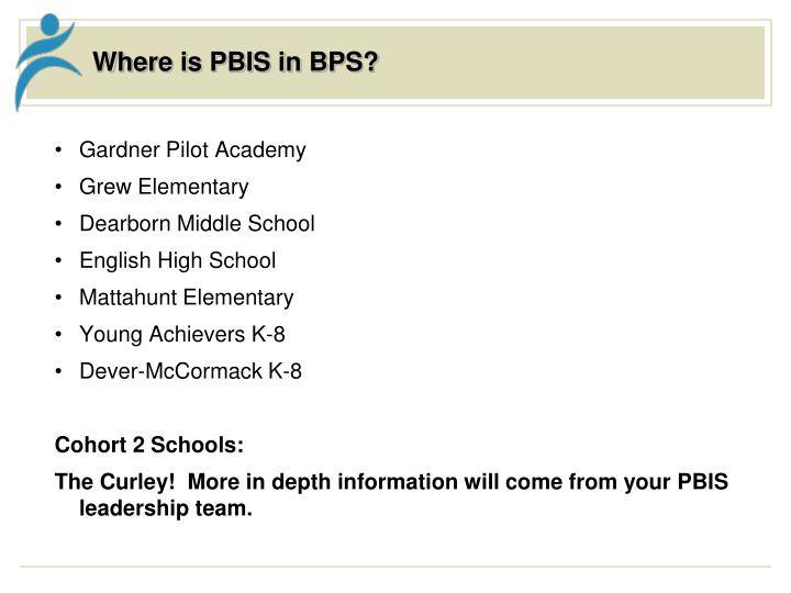Where is PBIS in BPS?