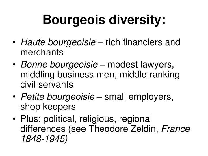 Bourgeois diversity: