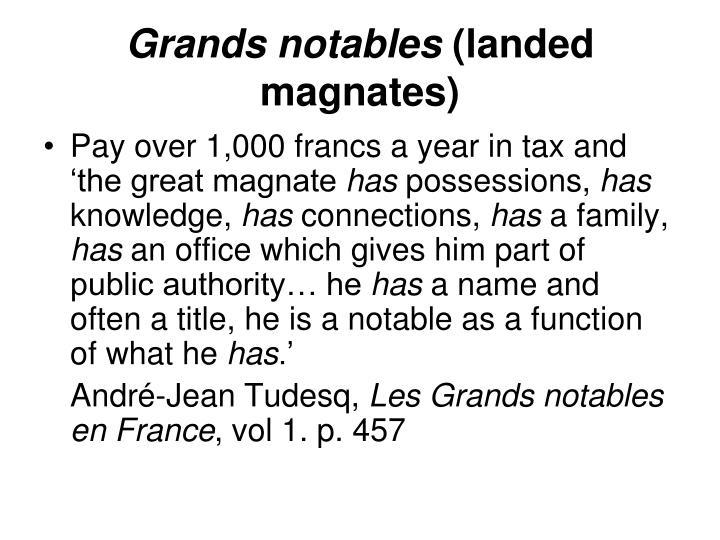 Grands notables
