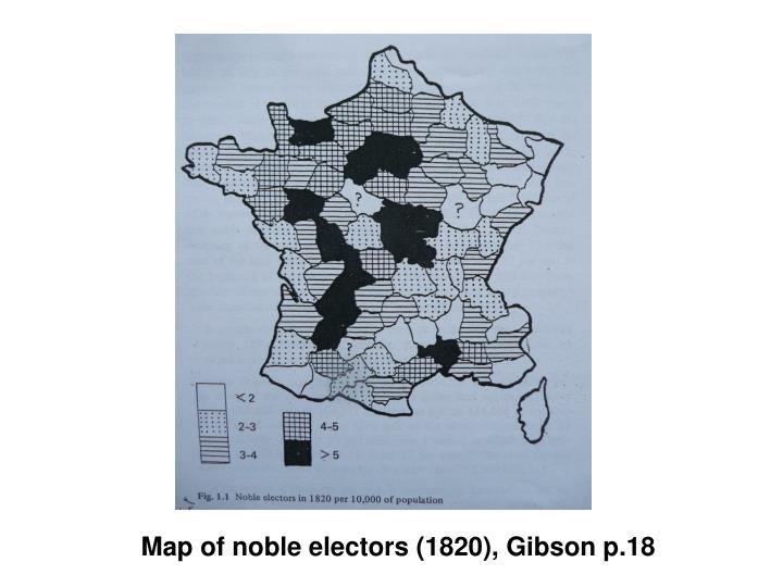 Map of noble electors (1820), Gibson p.18