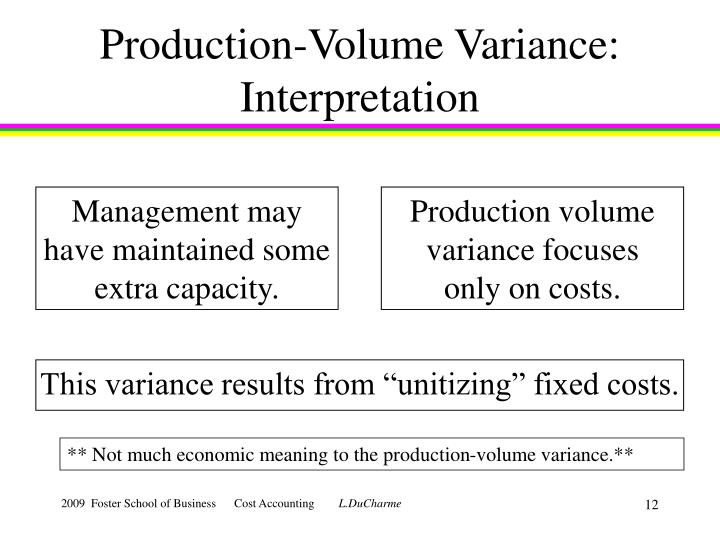 Production-Volume Variance: Interpretation