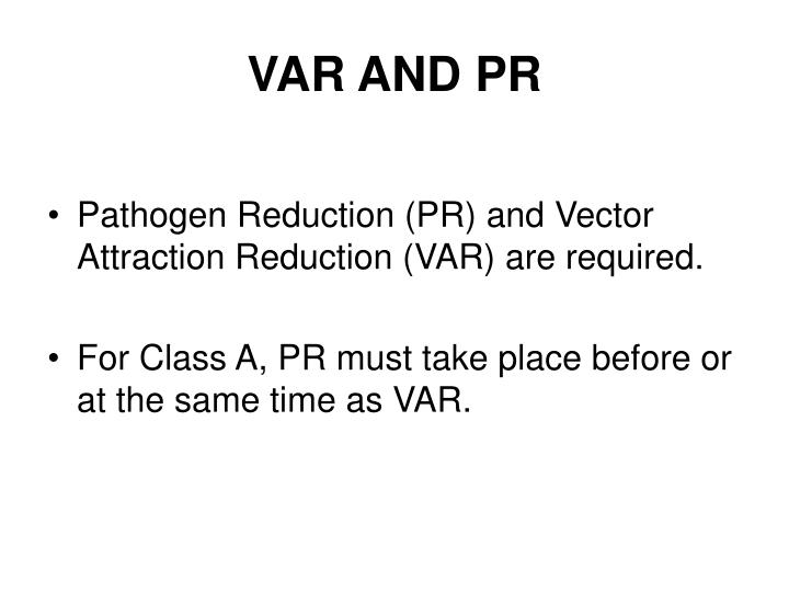 VAR AND PR