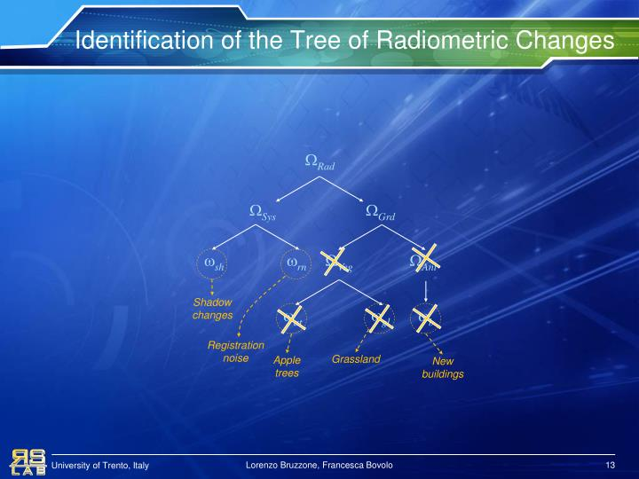 Identification of the Tree of Radiometric Changes