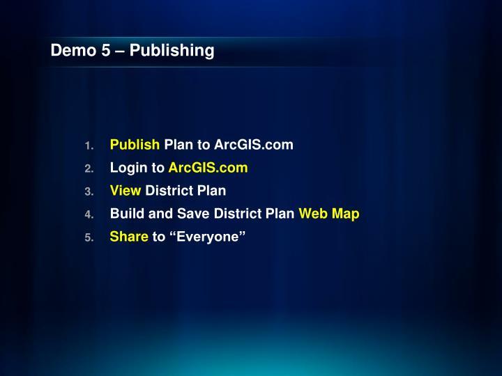 Demo 5 – Publishing