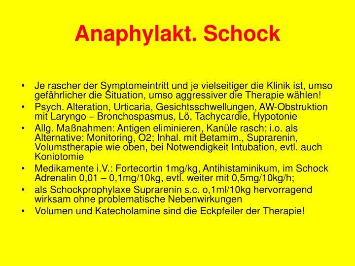 Anaphylakt. Schock