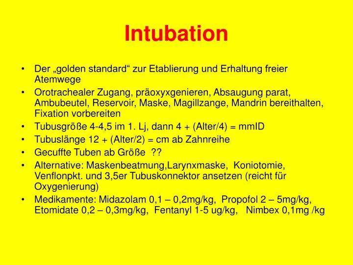 Intubation