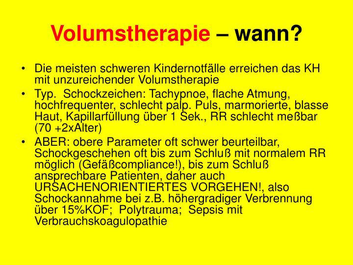 Volumstherapie