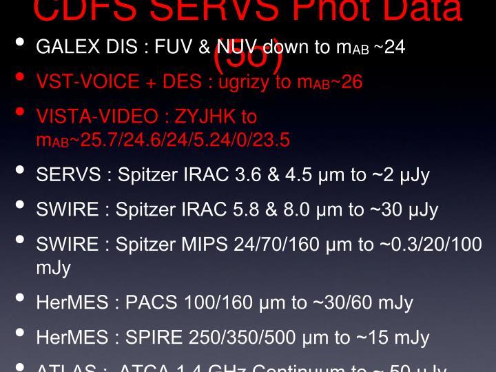 CDFS SERVS Phot Data (5σ)