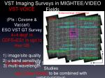 vst imaging surveys in mightee video fields