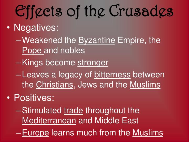 the legacy of the crusades Start studying ccq #5: the legacy of the crusades in western-islamic relations learn vocabulary, terms, and more with flashcards, games, and other study tools.