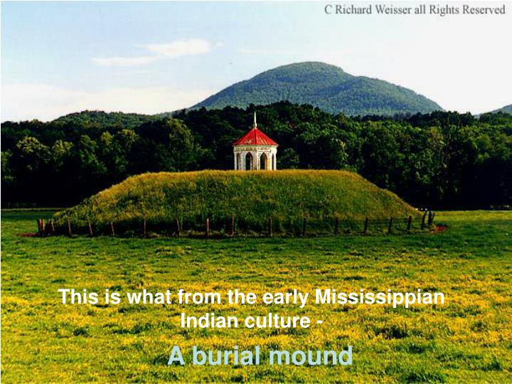 This is what from the early Mississippian Indian culture -