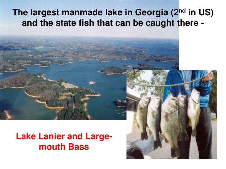 The largest manmade lake in Georgia (2