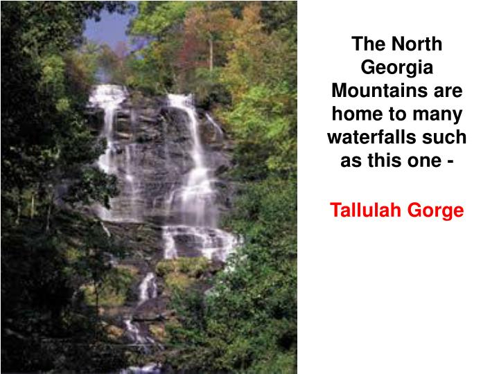 The North Georgia Mountains are home to many waterfalls such as this one -