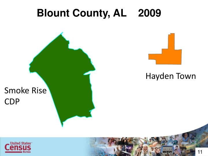 Blount County, AL    2009