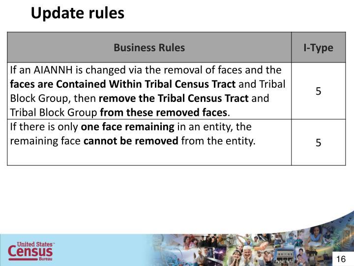Update rules