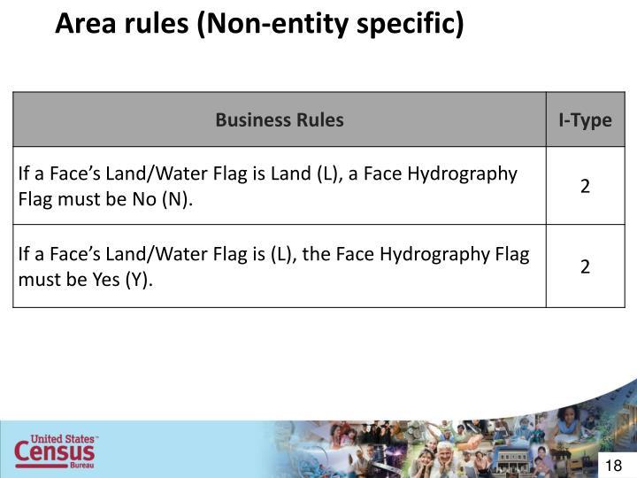 Area rules (Non-entity specific)