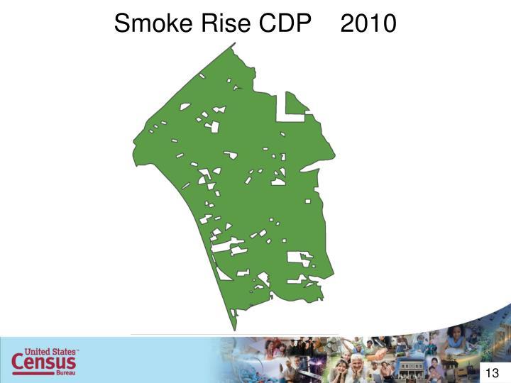 Smoke Rise CDP    2010