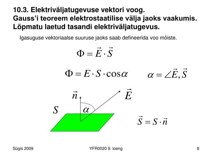 10.3. Elektriväljatugevuse vektori voog.