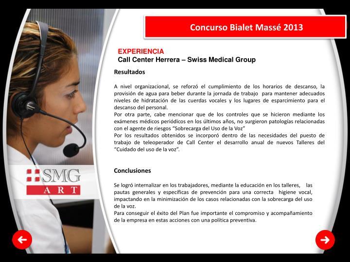 Concurso Bialet Massé 2013