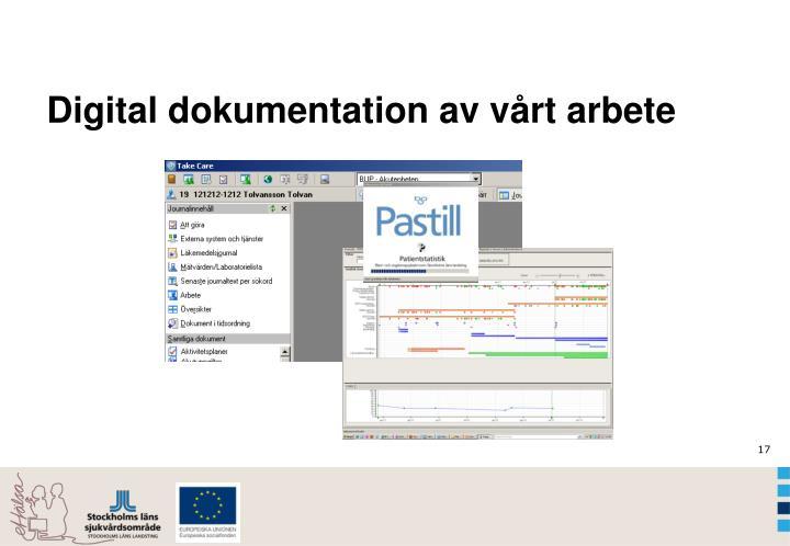 Digital dokumentation av vårt arbete