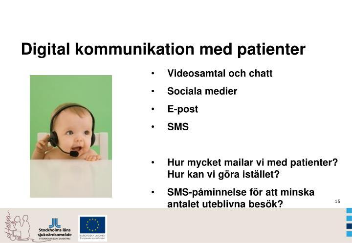 Digital kommunikation med patienter