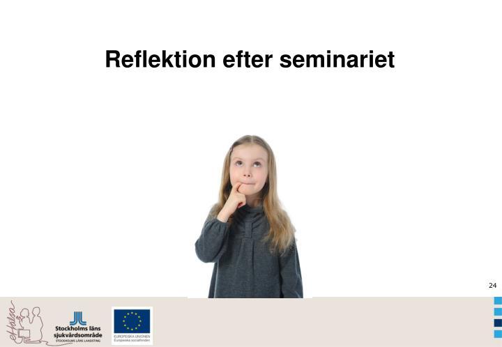Reflektion efter seminariet