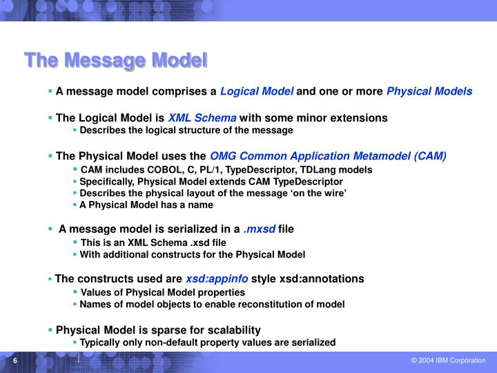 The Message Model