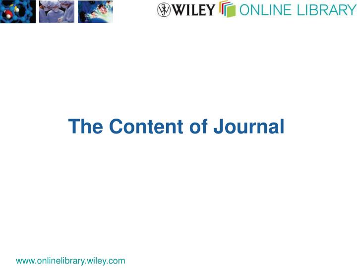The Content of Journal