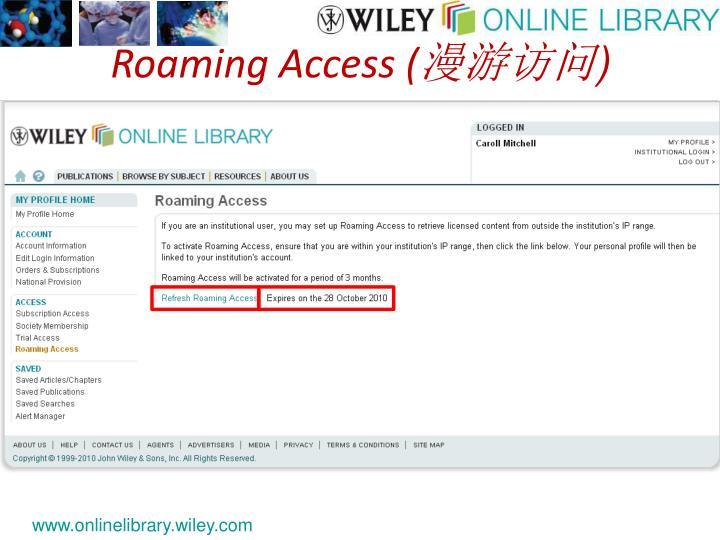 Roaming Access (