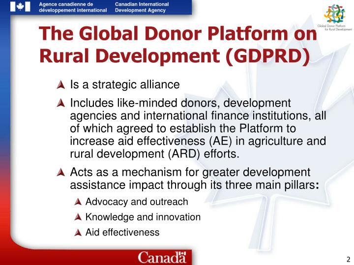 The Global Donor Platform on Rural Development (GDPRD)
