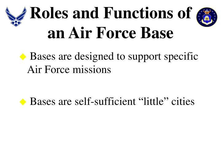 Roles and Functions of an Air Force Base