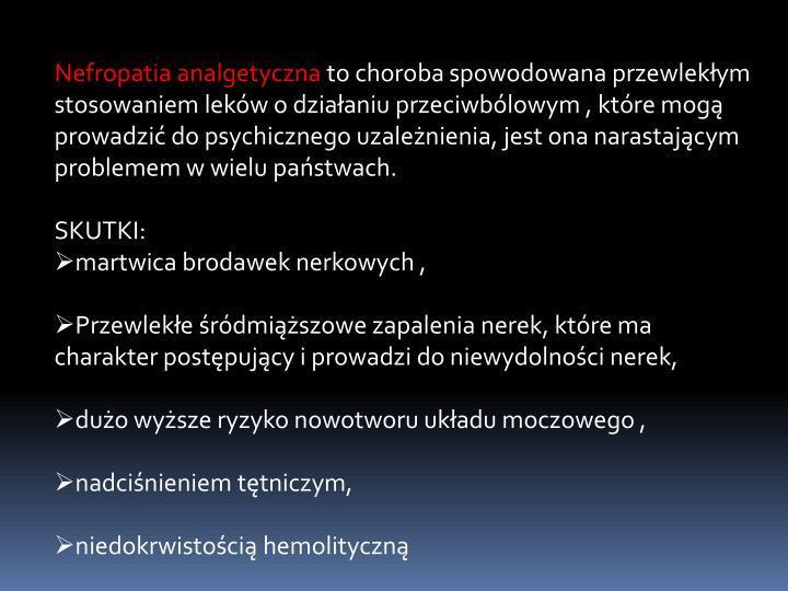Nefropatia analgetyczna
