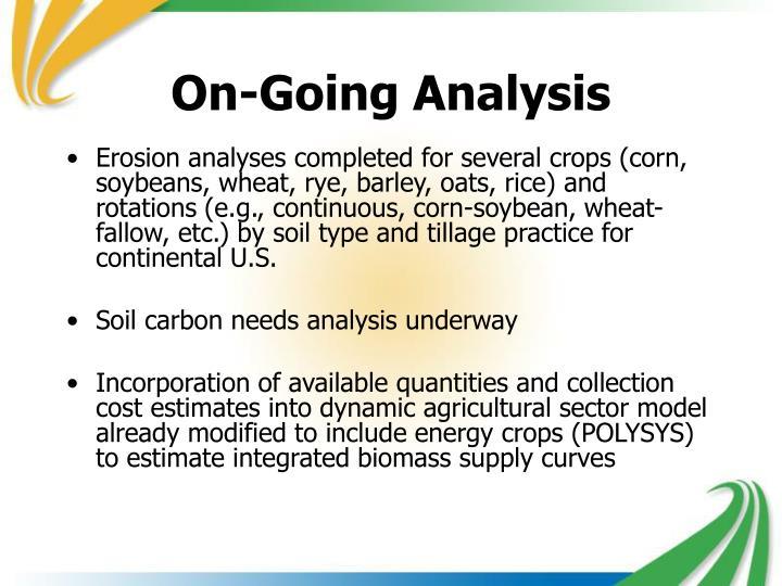 On-Going Analysis