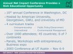 annual net impact conference provides a rich educational opportunity