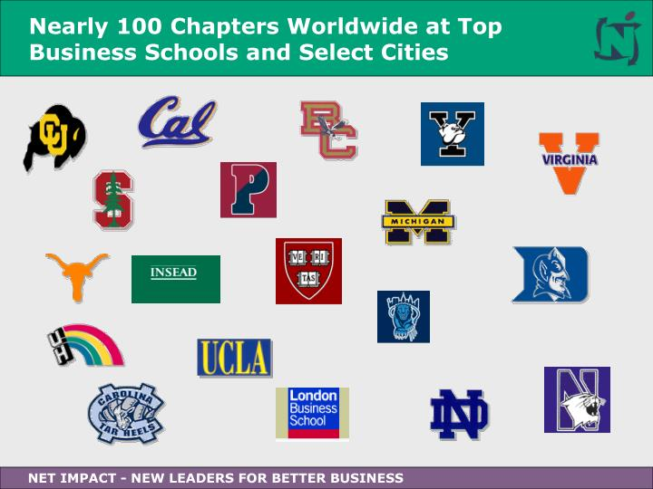 Nearly 100 Chapters Worldwide at Top Business Schools and Select Cities