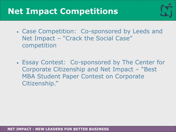 Net Impact Competitions