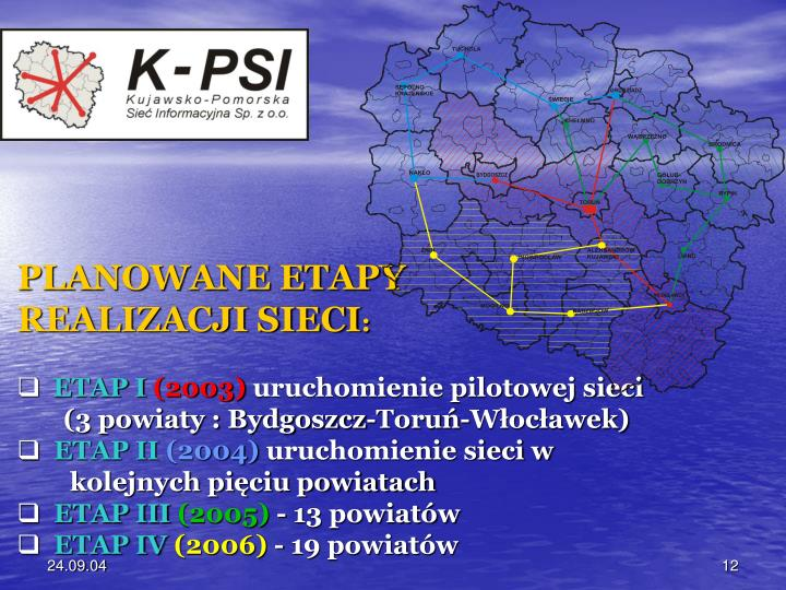 PLANOWANE ETAPY