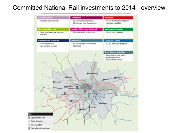 Committed National Rail investments to 2014 - overview