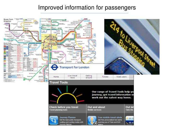 Improved information for passengers