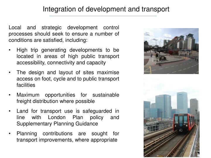 Integration of development and transport