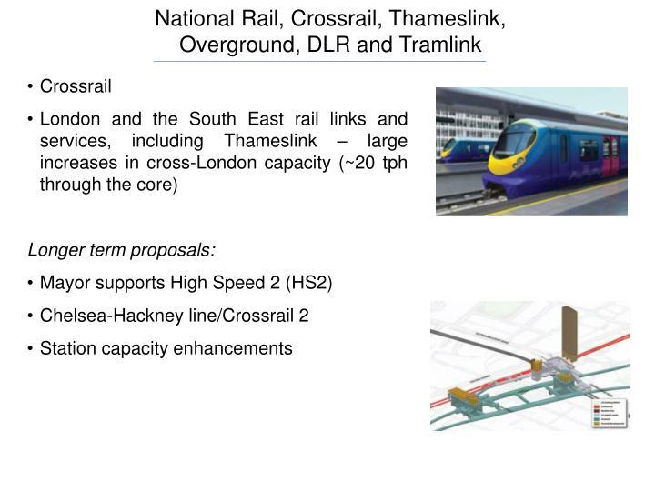 National Rail, Crossrail, Thameslink,