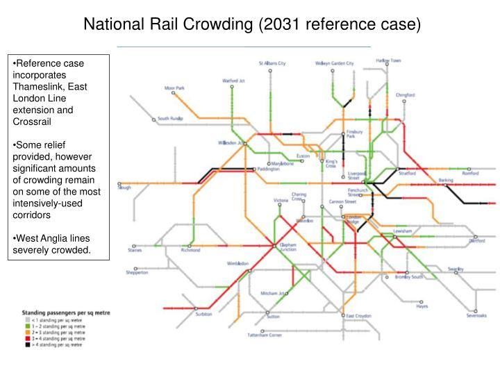 National Rail Crowding (2031 reference case)