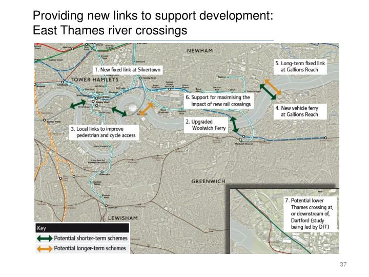 Providing new links to support development: