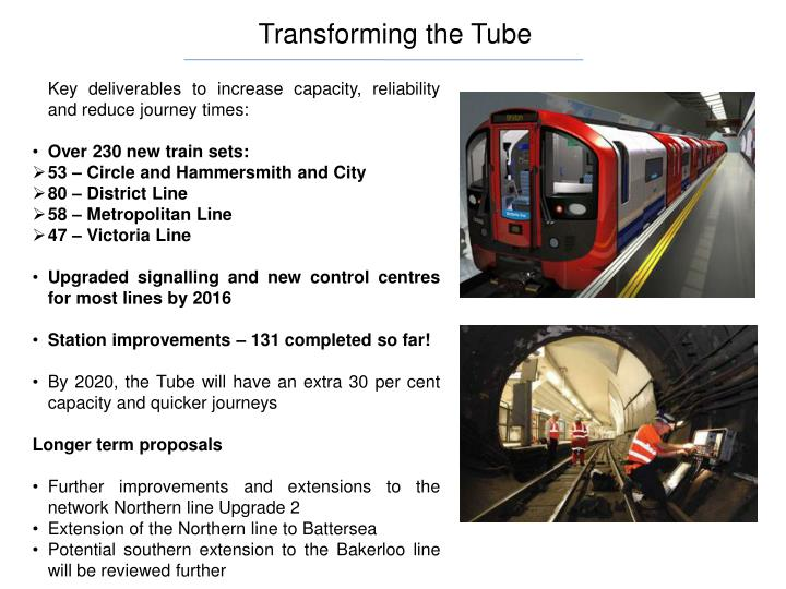 Transforming the Tube