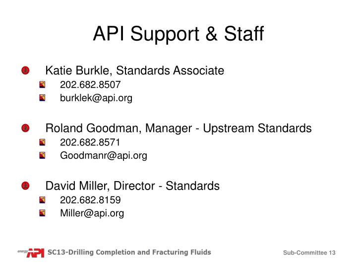 API Support & Staff