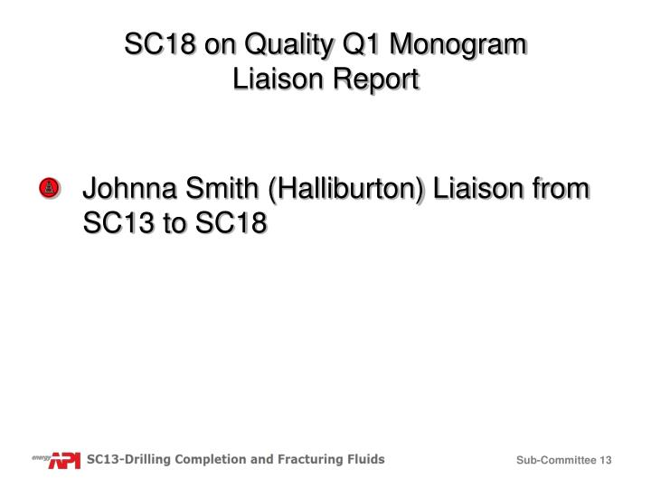 SC18 on Quality Q1 Monogram