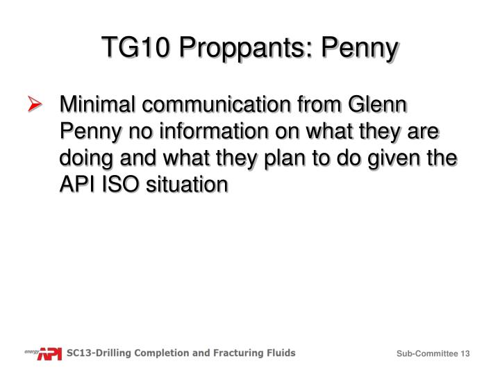 TG10 Proppants: Penny